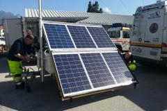 Carrello fotovoltaico con palo telescopico 7m