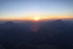 Ore 5:00 di mattina, cima Tofana 3244m