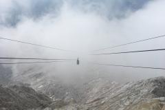 Inizio temporale cima Tofana 3244m